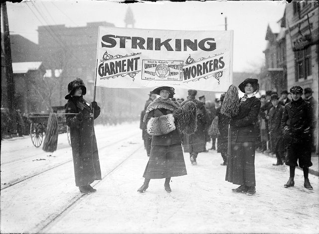 Garment workers strike of 1913. [PHOTO: Albert R. Stone Collection]