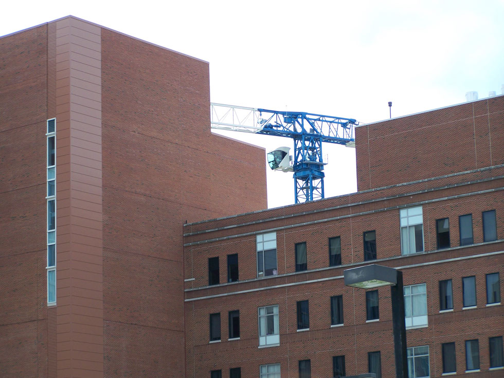 Construction on Golisano Children's Hospital, at University of Rochester. June 2014. [PHOTO: Jimmy Combs]