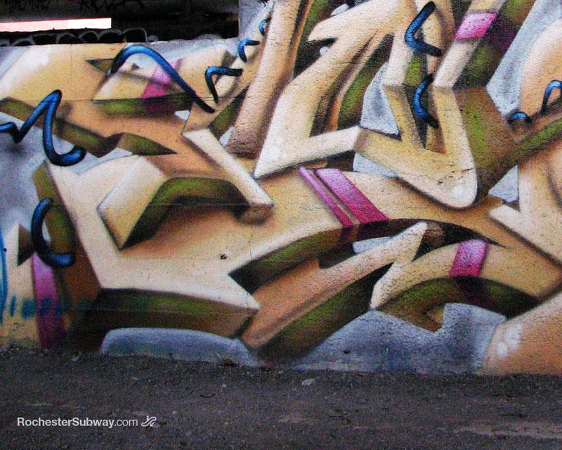 FREE PC Wallpaper: Graffiti in the Rochester Subway Tunnel