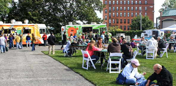 In 2012 Greentopia is even bigger. It's now a week long with a program that includes music, art exhibits & fashion shows, a business conference, plus the eco-fest at High Falls. [PHOTO: Greentopia 2011]