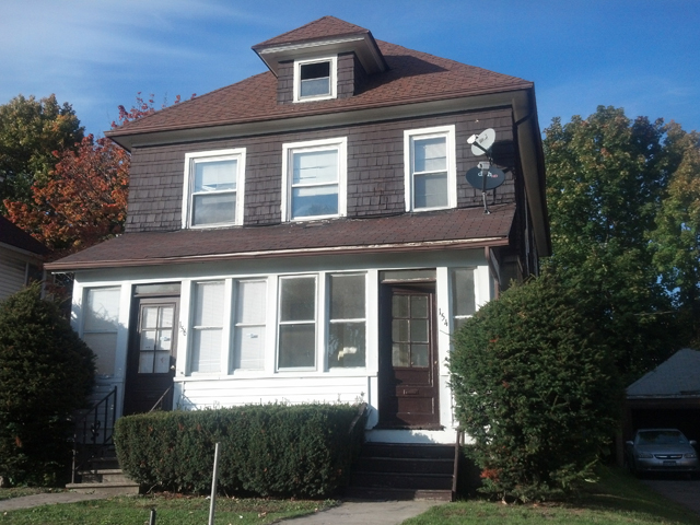 Here is an example of a multi-family for sale at 154 Avis St. This house has 2 Bedrooms / 1.0 Bathroom in each unit, with a two car garage for 59,900. [IMAGE: Rich Tyson]
