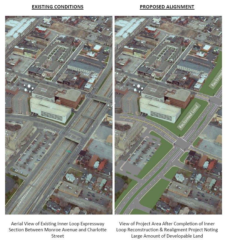 Rochester Inner Loop Reconstruction Project - Proposed Alignment.