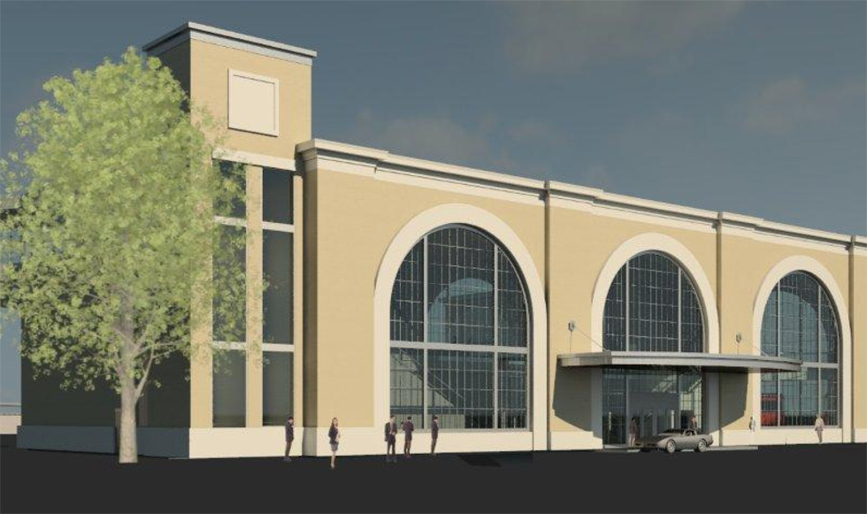 Rochester's proposed new station design. [RENDERING: Bermann Associates, 2012]