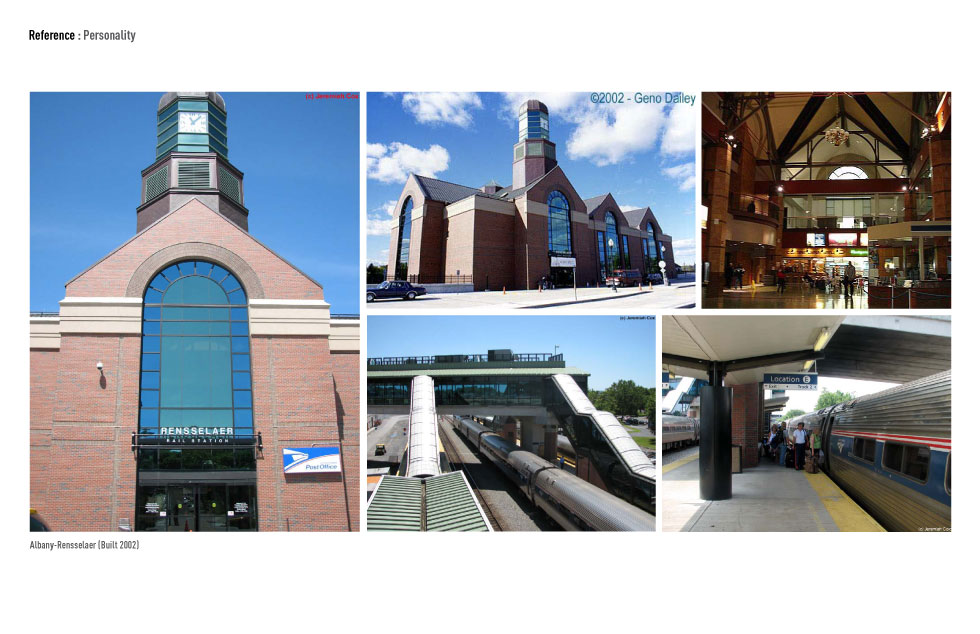 Overall building personality... Albany-Rensselaer Station (built 2002).