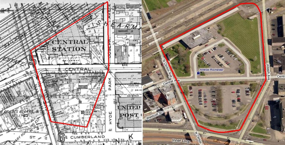 The Central Avenue site was also where Rochester's beloved Claude Bragdon station once stood.