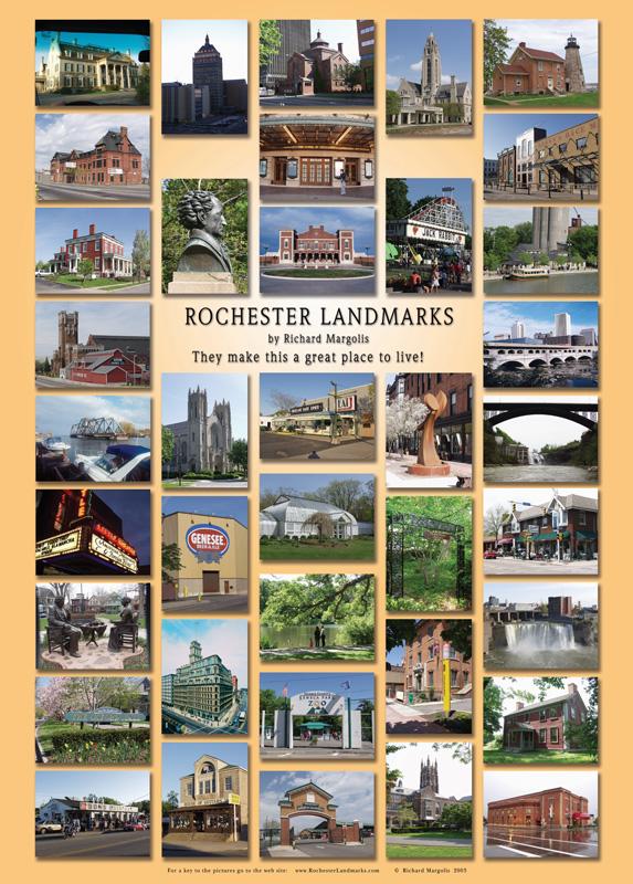 Rochester Landmarks Poster [IMAGE: Richard Margolis]
