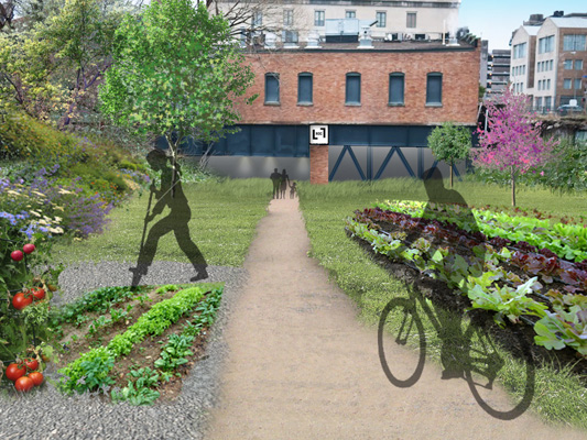 Green space is essential component to the Roc Low Line. [RENDERING: RocLowLine.com]