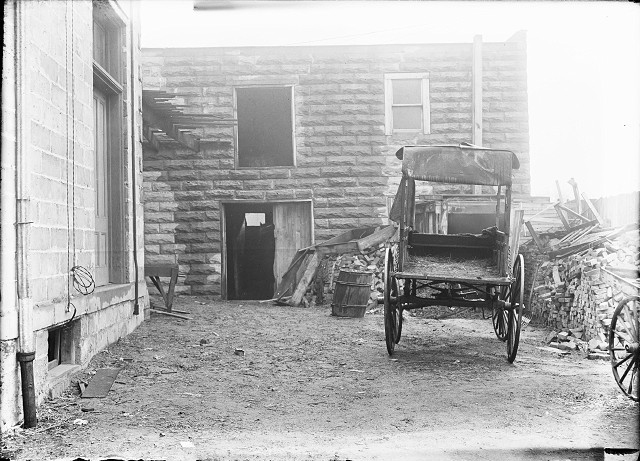 This is the banana wagon thought to be the vehicle used to 'deliver' the barrel containing Manzello's body to its resting place. [PHOTO: Albert R. Stone]