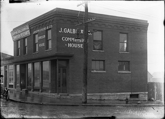 This is the front of the building where the murder took place. The buildings belonged to Joseph Galbo, son-in-law of Sam Ollis, the