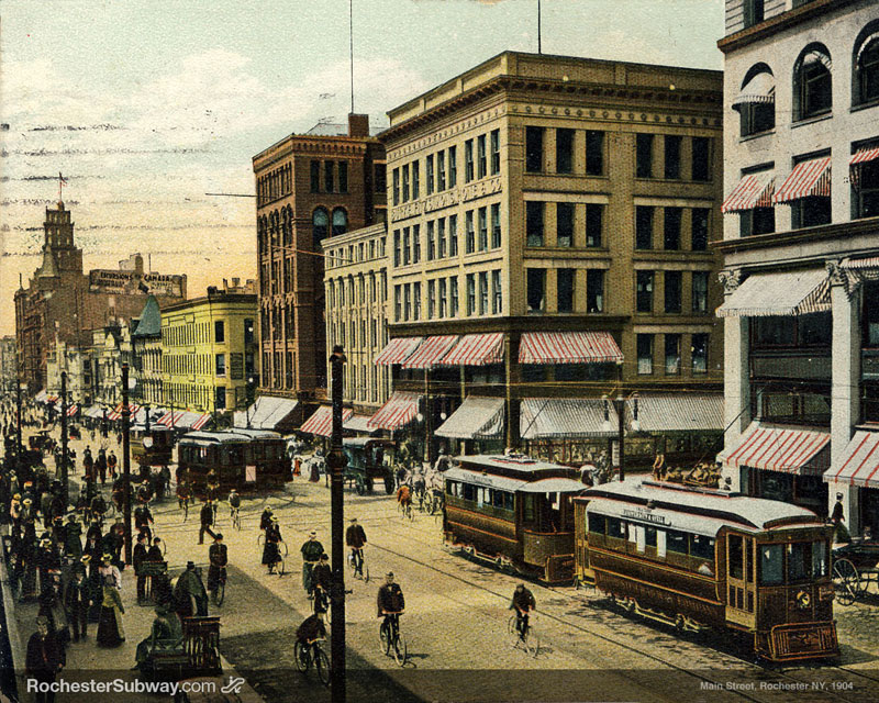 FREE PC Wallpaper: Rochester Main Street, 1904