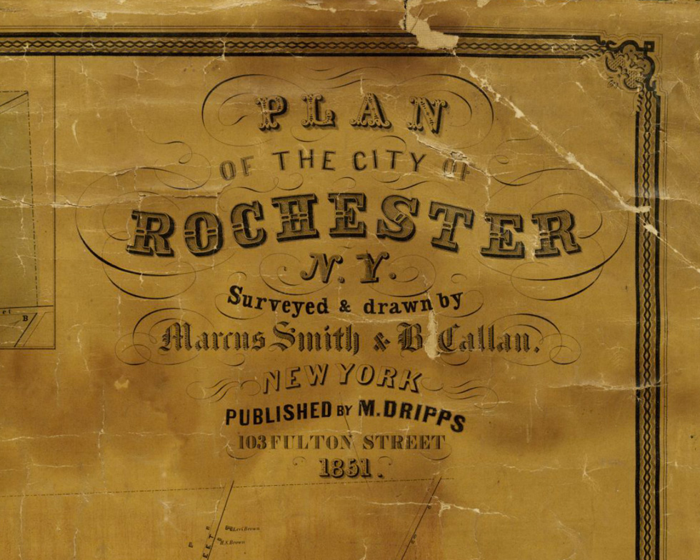 Rochester Map Typography [IMAGE: Rochester Public Library]