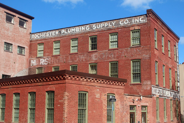 The former Rochester Marshmallow Company factory located in the High Falls District. [PHOTO: India Lombardi-Bello]