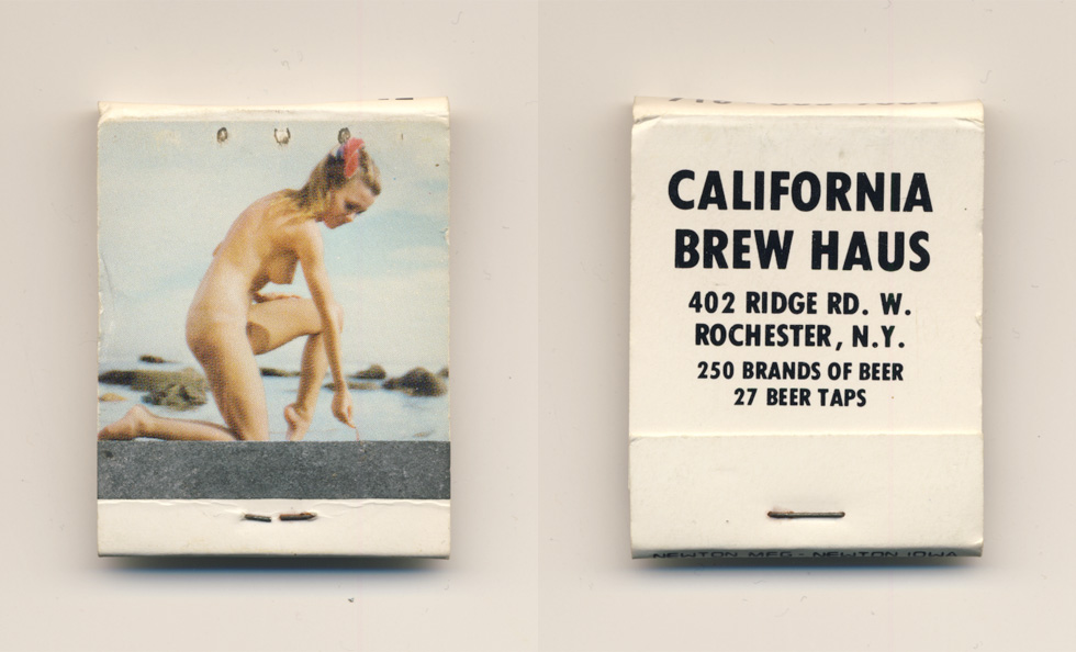 California Brew Haus matchbook.