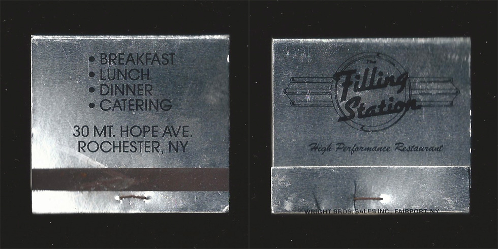 The Filling Station matchbook.