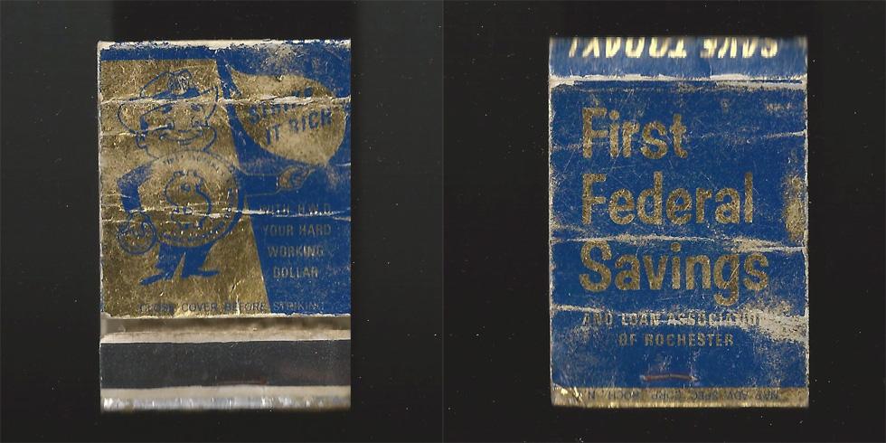 First Federal Savings & Loan matchbook.