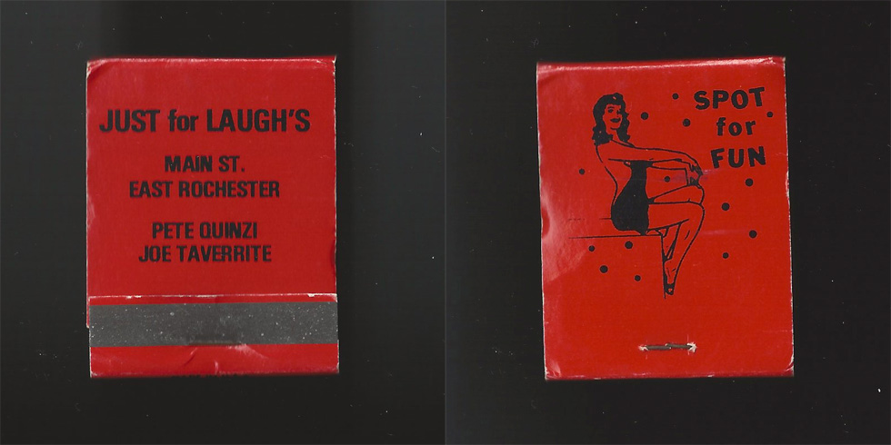 Just for Laughs matchbook.