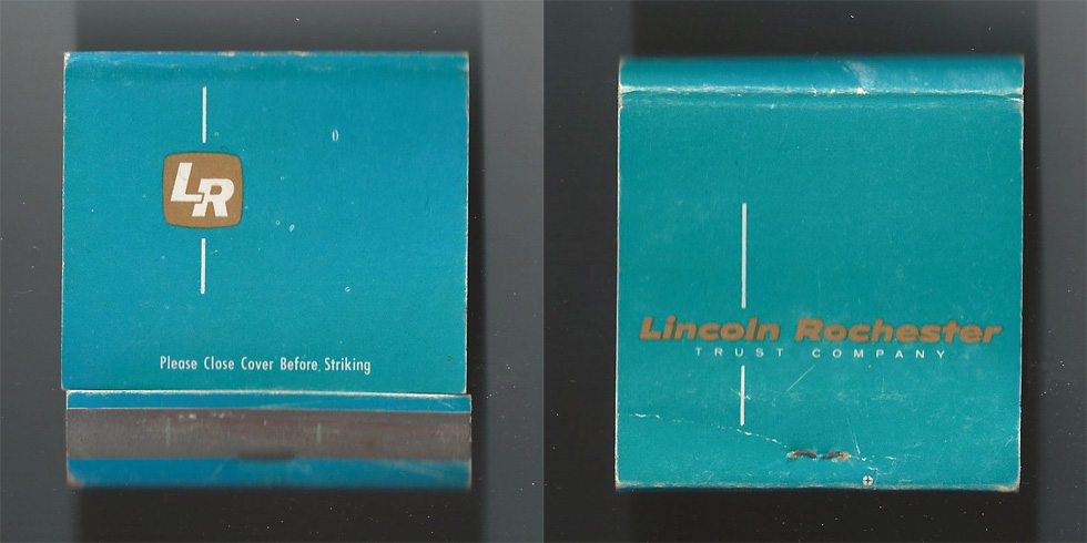 Lincoln Trust Company matchbook.