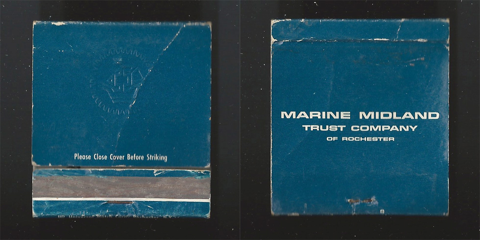 Marine Midland Trust Company matchbook.