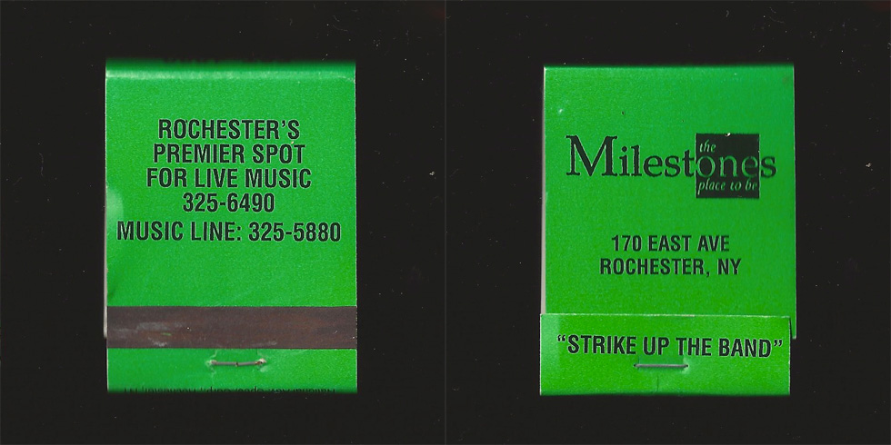 Milestones matchbook.