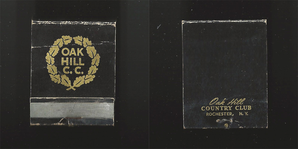 Oak Hill Country Club matchbook.