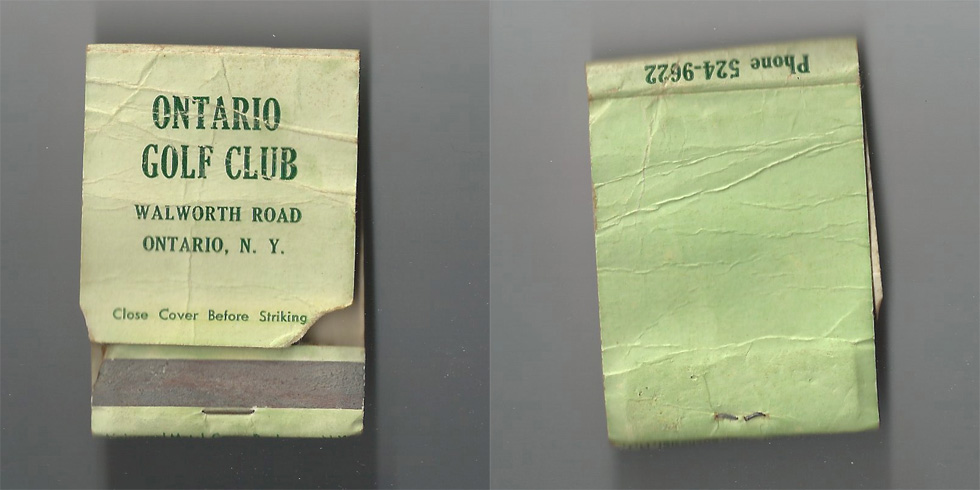Ontario Golf Club matchbook.