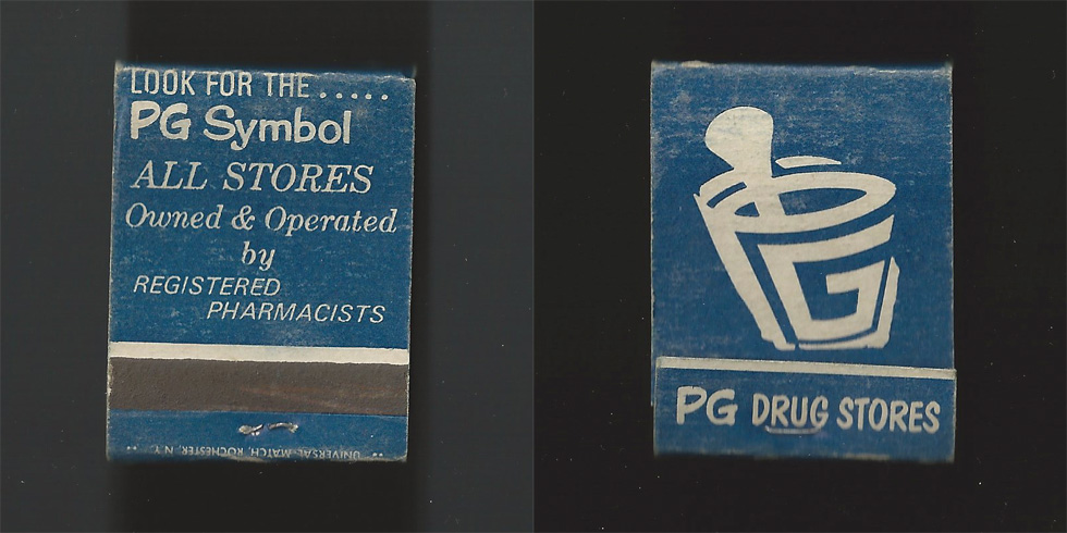 PG Drug Store matchbook.