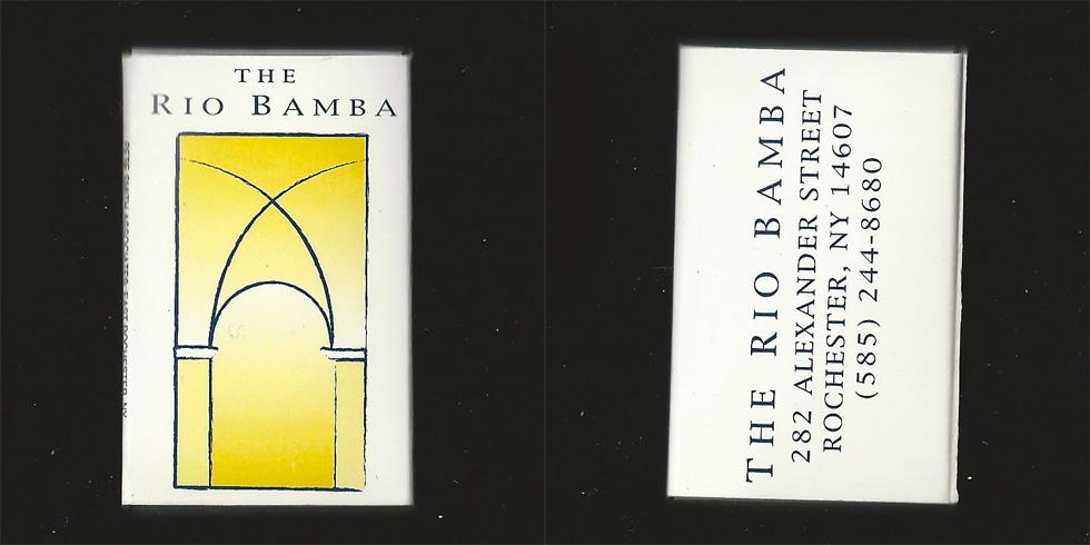 The Rio Bamba matchbox.