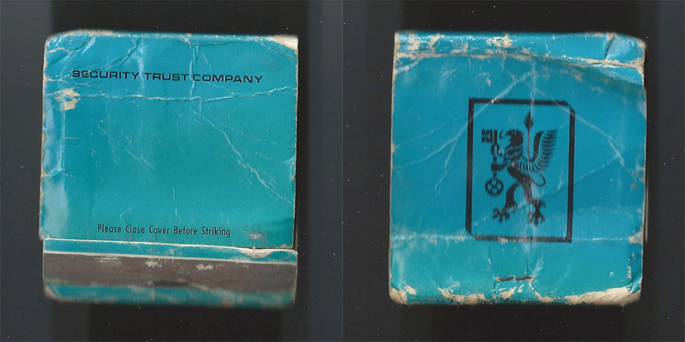 Security Trust Company matchbook.