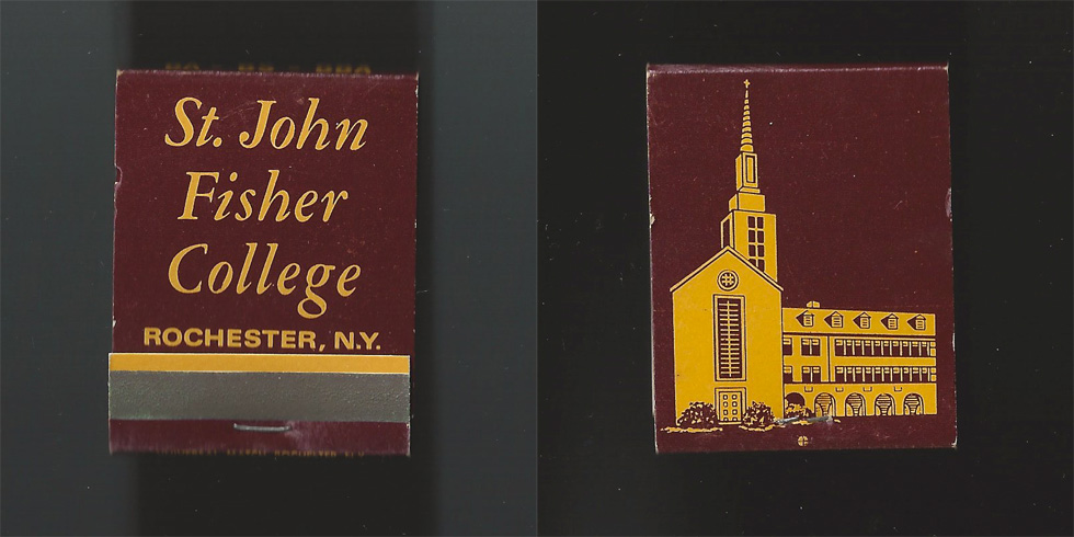 St. John Fisher College matchbook.