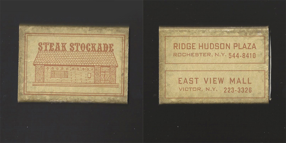 Steak Stockade matchbox.