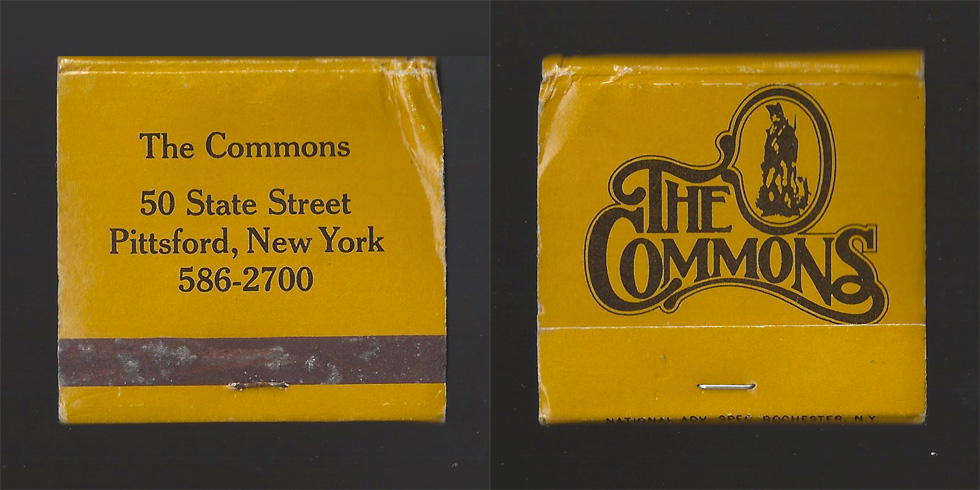 The Commons matchbook.