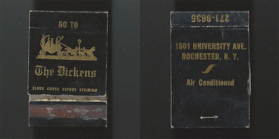 The Dickens matchbook.