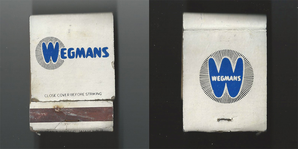 Wegmans matchbook.
