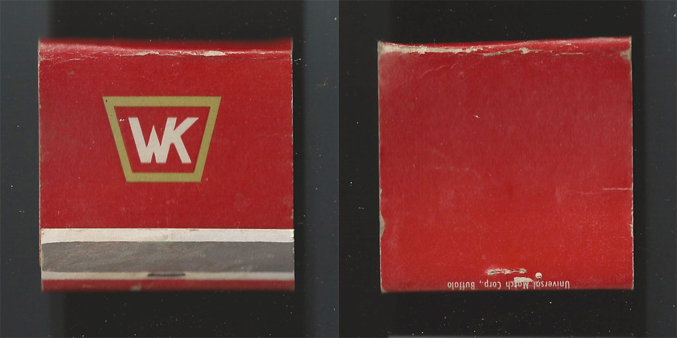 WK matchbook.