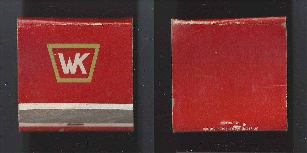 WK matchbook.