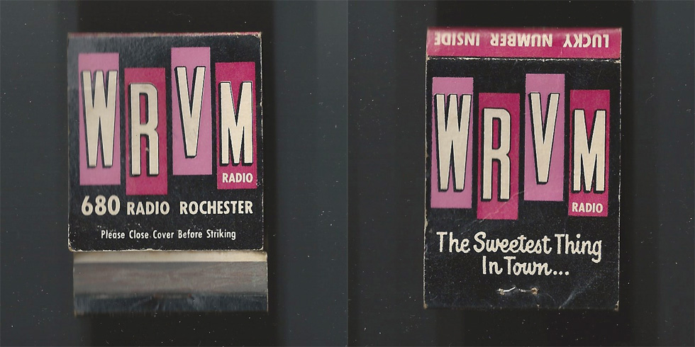 WRVM Radio matchbook.