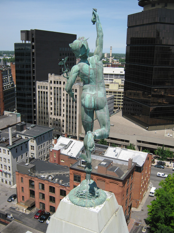 Statue of Mercury. Rochester, NY. [PHOTO: Wes Plant]