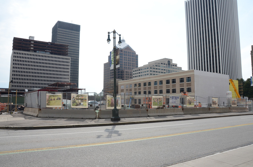 Construction of Windstream's building on Midtown site is moving along.