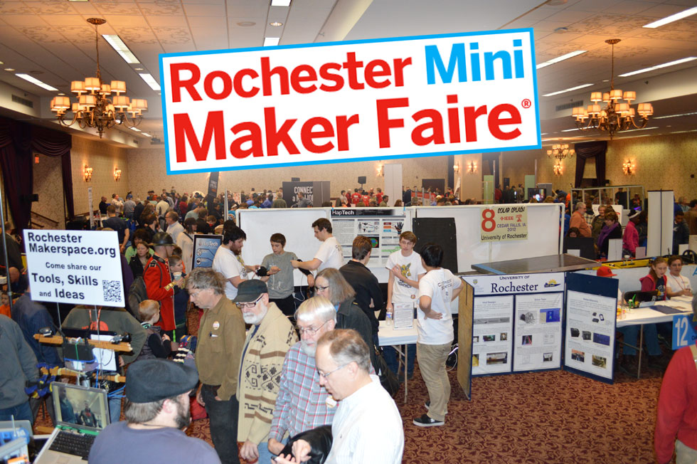 Rochester Mini Maker Faire was jam packed with cool robots, fun activities, and creative stuff to make, and buy. Ella (10) from Iroquois Middle School tells us about some of her favorite things that she saw there. [PHOTO: Ella's Mom]