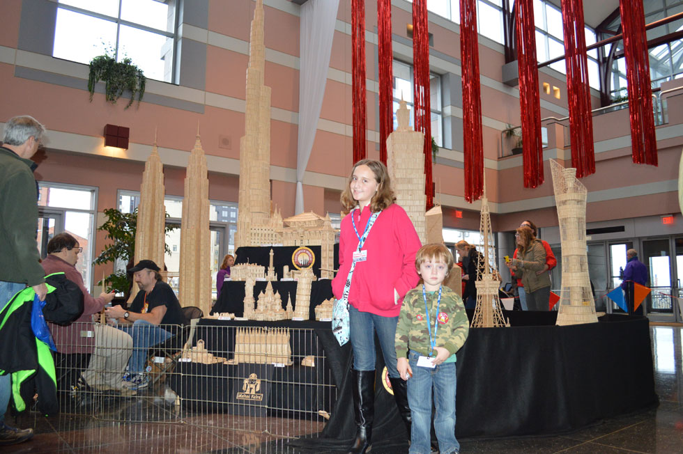 Toothpick World is a world completely made out of toothpicks. It was created by Stan Munro. [PHOTO: Ella's Mom]