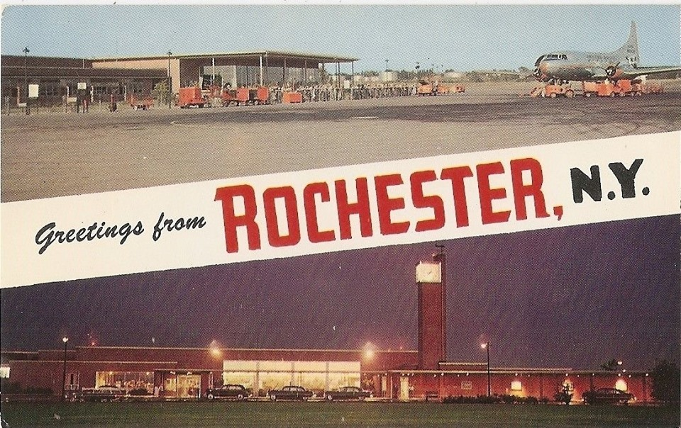Do you remember the mural at the old Rochester Monroe County Airport? A reader asked if we could share photos of it. [IMAGE: Rochester Public Library Local History Division]