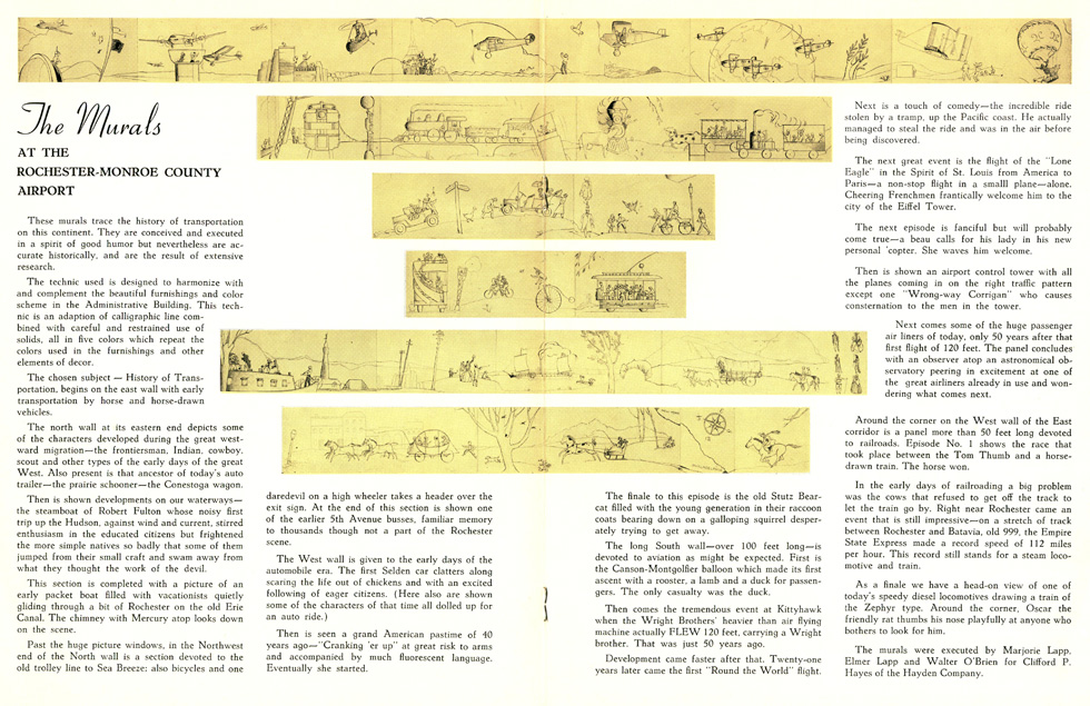 And a two-page spread detailing the murals. [IMAGE: Rochester Public Library Local History Division]