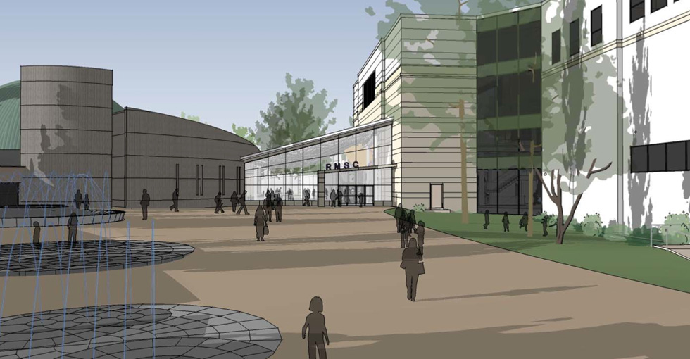 Revised concept for the Rochester Museum and Science Center expansion after the Preservation Board denied Labella's first plan.
