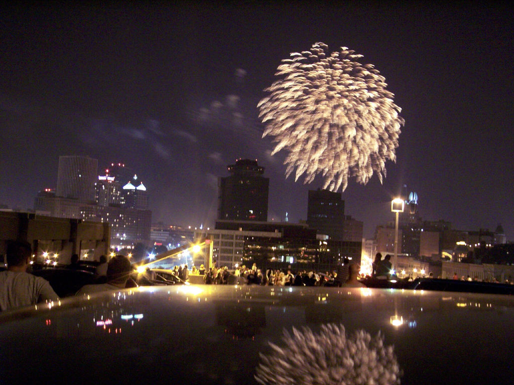 Fireworks over Rochester. [PHOTO: Aaron Giambattista]