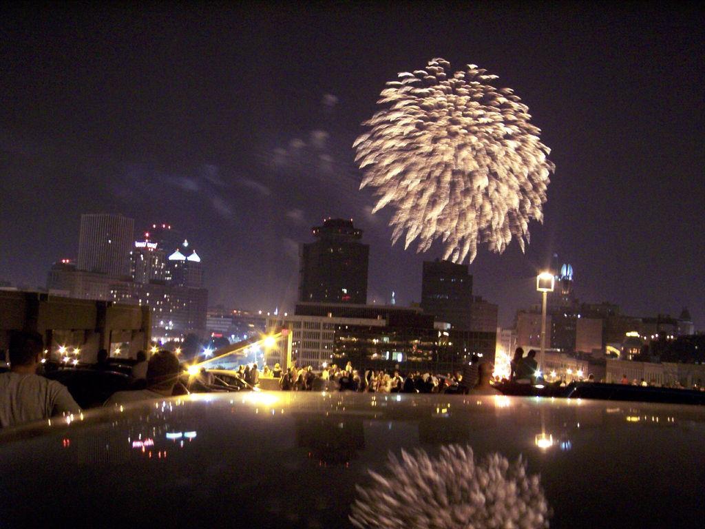 Fireworks over Rochester. [PHOTO: Aaron Giambattista]