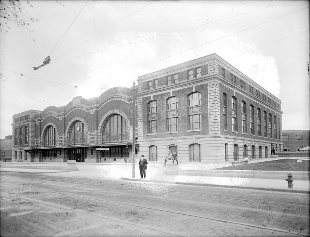 Rochester's NY Central (Bragdon) Station, 1914. [PHOTO: Albert R. Stone]