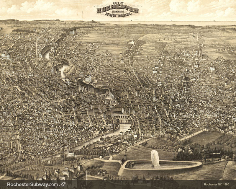 FREE PC Wallpaper: Rochester Panorama, 1880
