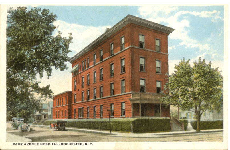Rochester's Park Avenue Hospital. July 14, 1923. [PHOTO: Rochester Public Library Local History Division]