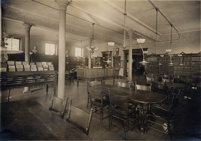 An interior view of the Reynolds Library on Spring Street. [PHOTO: Rochester Public Library]