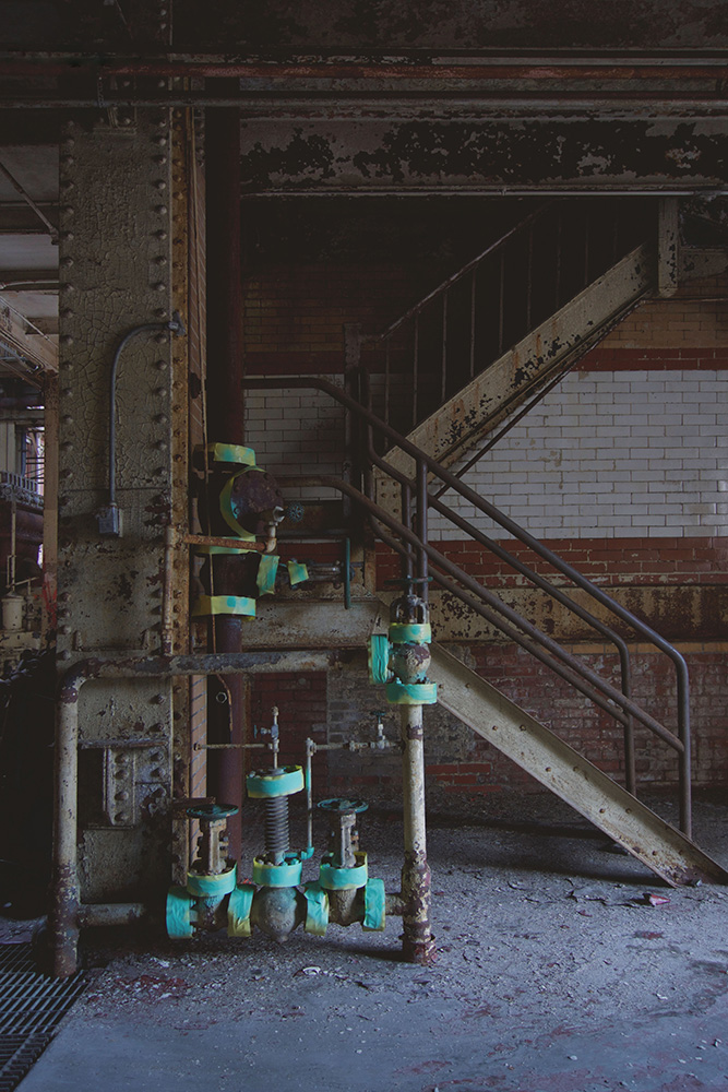 RG&E Beebee power station prior to demolition. Rochester, NY. Summer 2016. [IMAGE: Anonymous]